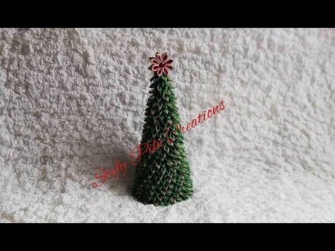 Albero Di Natale Kanzashi.How To Make Kanzashi Christmas Tree 9 D I Y Tutorial Albero Di Natale In Raso Youtube