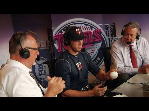 STL@MIN: Twins Draft pick Tyler Jay visits the booth
