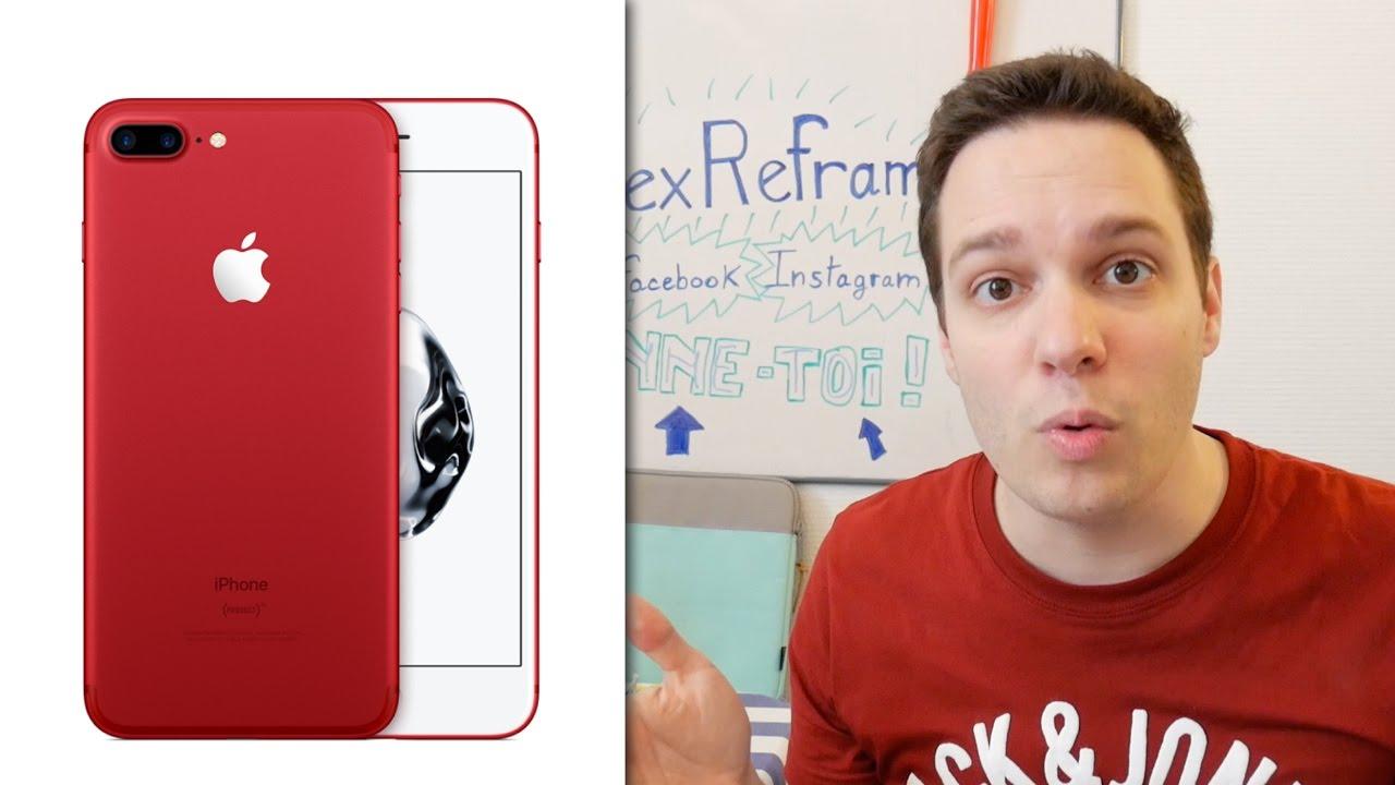 iphone 7 rouge nouvel ipad donc pas de keynote youtube. Black Bedroom Furniture Sets. Home Design Ideas