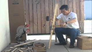 忍者 間者 making a Japanese bow (弓)series #9
