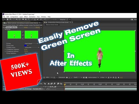 How to Remove Green Screen in Adobe After Effects CC Tutorial | The Teacher