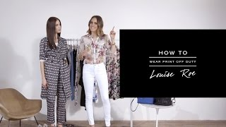 HOW TO: Wear Print Off Duty - REISS