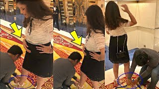 Download lagu Ms Dhoni Ties Pregnant Wife Sakshi Dhoni Shoe In Mall MP3