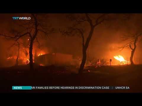 Deadly fires rage in Greece's Attica region