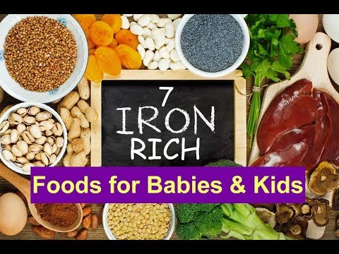 7 Iron Rich Foods For Babies & Kids | Foods That Improves Your Baby HB Level | Iron Foods
