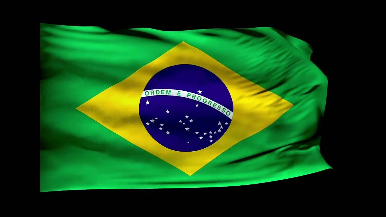 brazil flag waving brazil national anthem 720p 3d animation