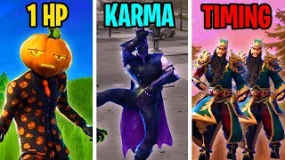 1 HP vs KARMA vs PERFECT TIMING - Fortnite Battle Royale