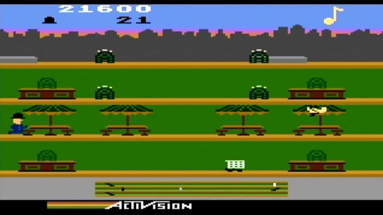 Keystone Kapers Atari 800xl Gameplay Dreamcast Emulator Youtube