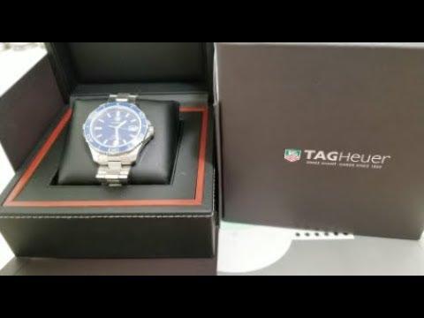 How To Adjust Link Authentic TAG HEUER Aquaracer Blue Ceramic Bezel Calibre 5 Diver Watch! 8 19 18