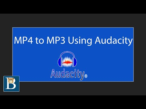 MP4 to MP3 using Audacity - How to Extract Audio from Video for free