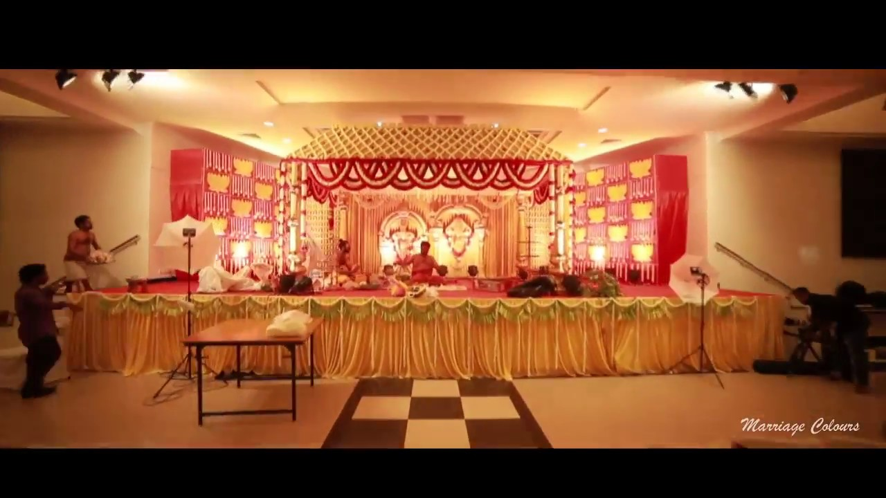 Traditional wedding decoration at mayor ramanathan chettiar hall