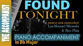 Found/Tonight (Lin-Manuel Miranda & Ben Platt) - Hamildrop - Piano Accompaniment - Karaoke