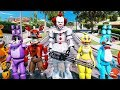 watch he video of IT PENNYWISE CLOWN MOD & ANIMATRONICS TAKE OVER THE WORLD! (GTA 5 Mods For Kids FNAF RedHatter)