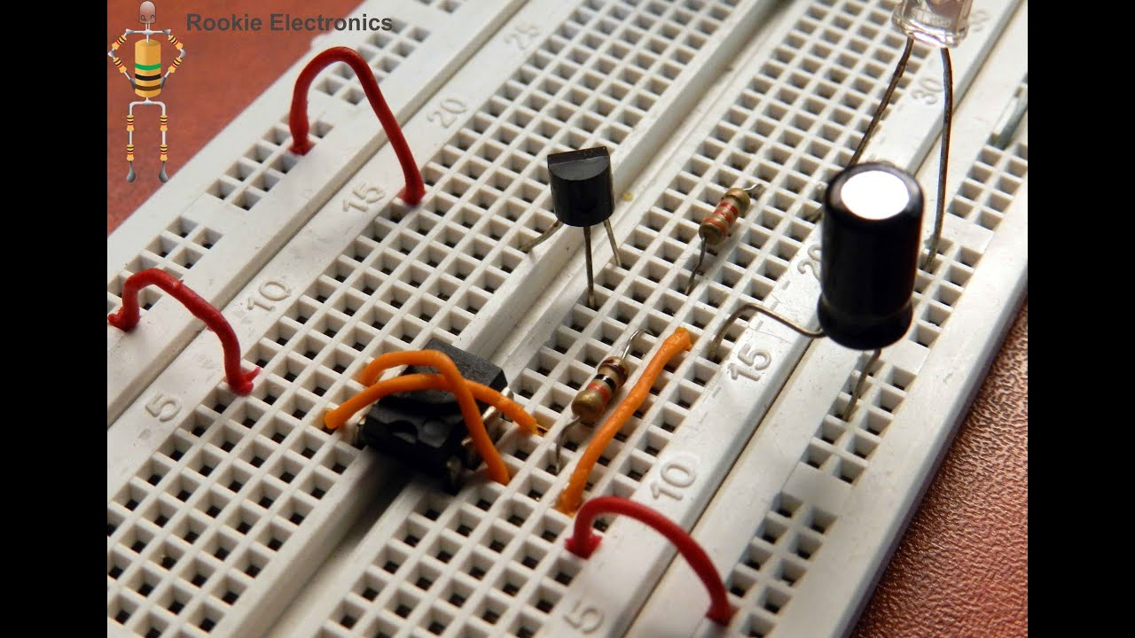 Breadboard Projects How To Make Fading Led Circuit With 555 Timer On Is