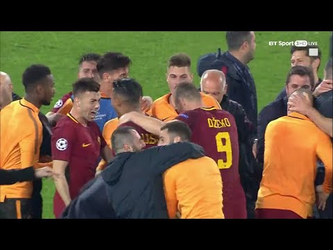Incredible scenes as Roma complete historic Champions League
