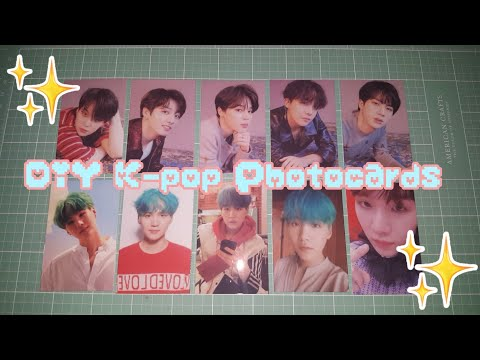 DIY K-pop Photocards