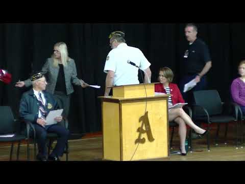 Veterans Day Ceremony 11-09-18 Antigo Middle School