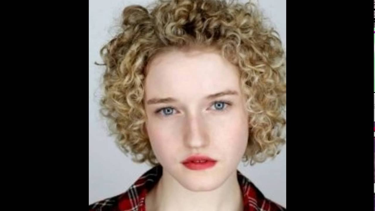 short curly hairstyles for round faces । curly hairstyles for short