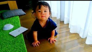 【赤ちゃん☆はな】遊びからのいきなりウンチ。