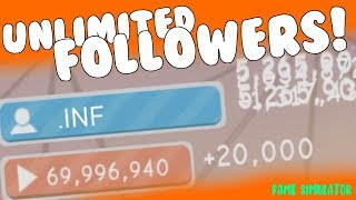 HOW TO GET UNLIMITED FOLLOWERS / SUBSCRIBERS IN FAME SIMULATOR! [Glitch] (Roblox)