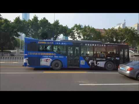 Take a ride on the Bus No. 130 in Guangzhou, Guangdong, China 广州130路公交,车窗风景