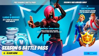 SEASON 5 BATTLE PASS on ILMAINEN!