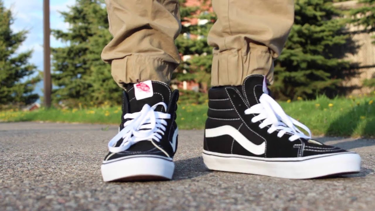 32024a8e28 vans sk8 hi on feet - EUROSTITCH