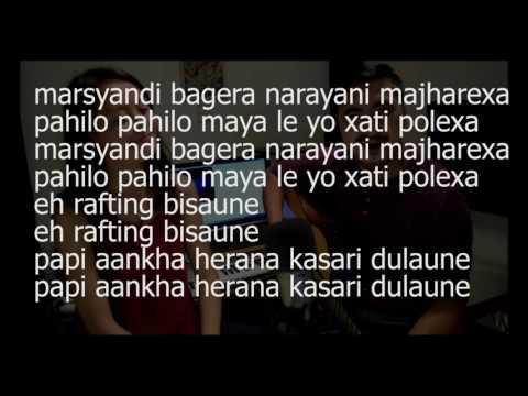Trishuli Bagera Karaoke - Movie// Nepali Babu ( Jyovan Bhuju Ft. Roselyn Shrestha Cover version)