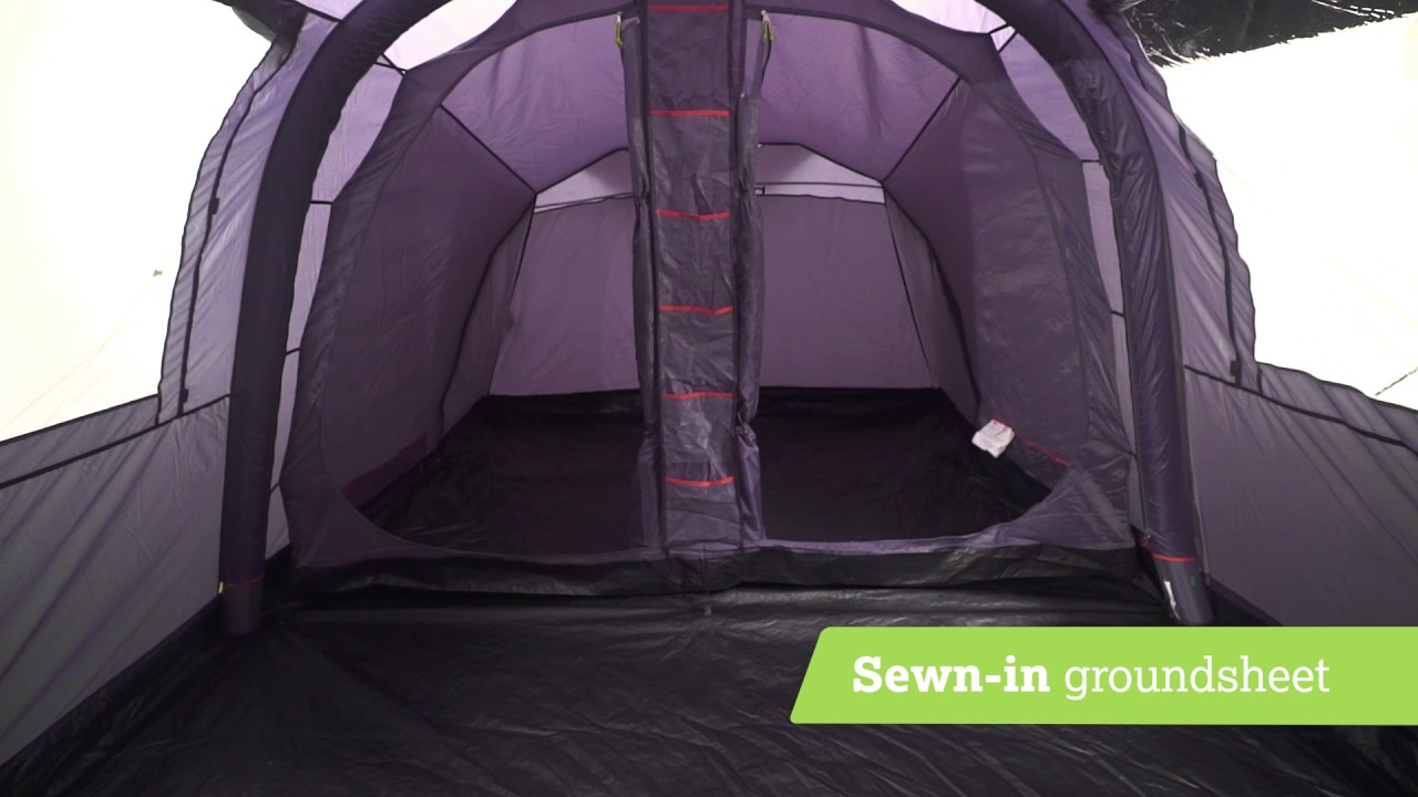 Urban Escape 4 Person Air Tent. Halfords & Urban Escape 4 Person Air Tent - YouTube