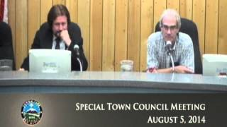 Town Of Taos, Town Council Special Meeting - August 5, 2014