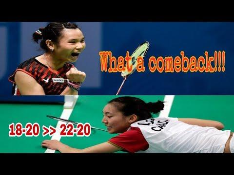What A Comeback Tai Tzu Ying vs Li Michelle (TTY nyaris kalah lawan Michelle)