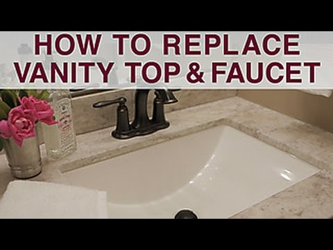 Replace Vanity Top And Faucet Diy Network Youtube