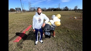 Saints' Arthur Maulet representing New Orleans from preps to pros