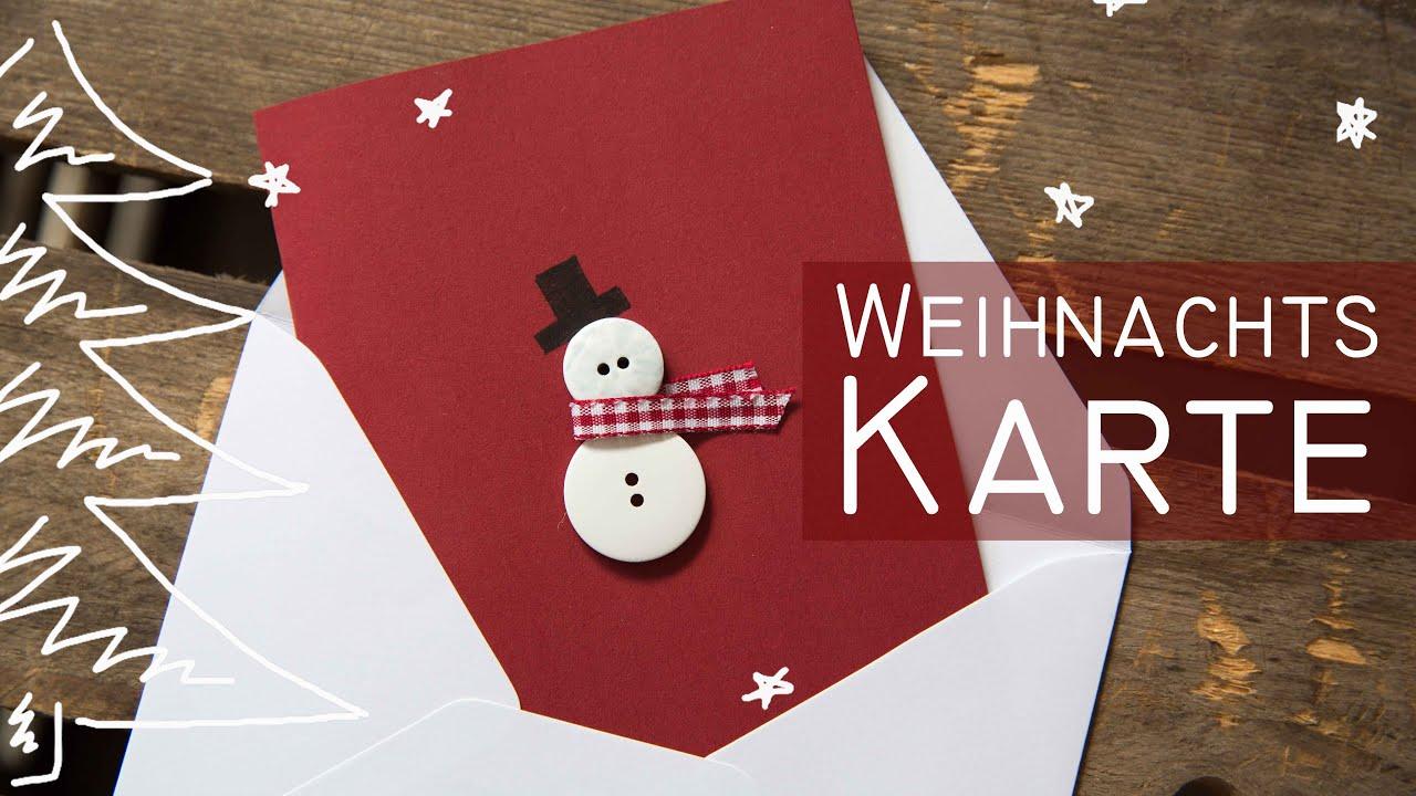 Diy weihnachtskarte schneemann kekulo christmas youtube - Interaktive weihnachtskarte ...
