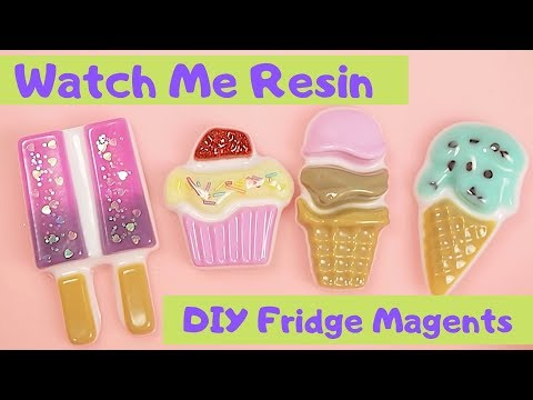 Watch Me Resin Timelapse: DIY Cake and Ice Cream Fridge Magnets