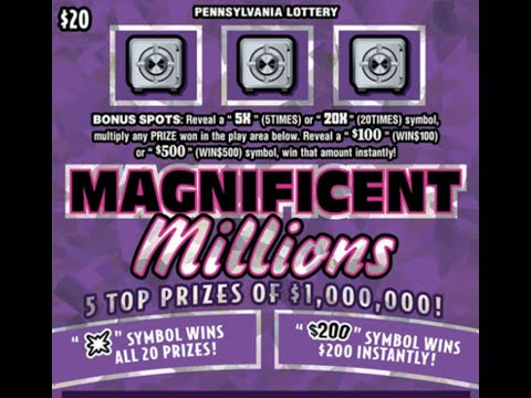 $20 MAGNIFICENT MILLIONS - PA Lottery Scratch Off Ticket