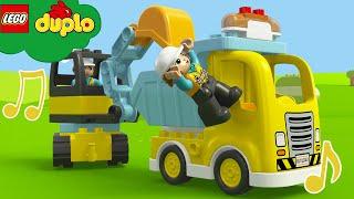 LEGO Trucks - Vehicles and Trucks Song | Duplo Nursery Rhymes | Cartoons and Kids Songs