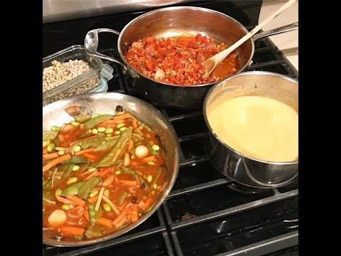 Vegan Shashuka, Korean BBQ Bowl, Cajun Pasta (3 meals 20 minutes)