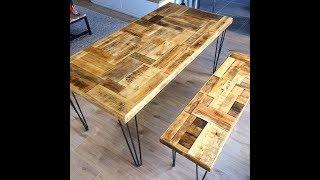 DIY : #Tutoriel Création/Fabrication/Réalisation plateau de #table vintage en bois de récupération
