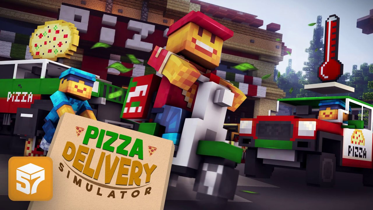Minecraft Pizza Delivery Simulator Mini Game Youtube