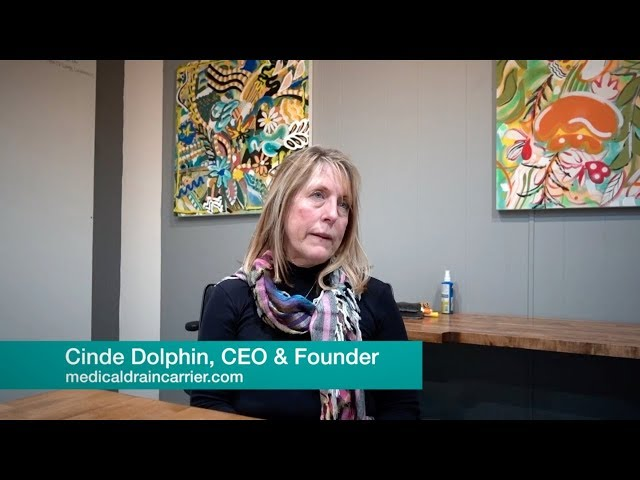 Cinde Dolphin, CEO & Founder Kili Drain Carrier. Sacramento, California, USA.
