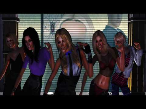 Britney Spears Ft.  Madonna - Me Against The Music [Sims 2] HD