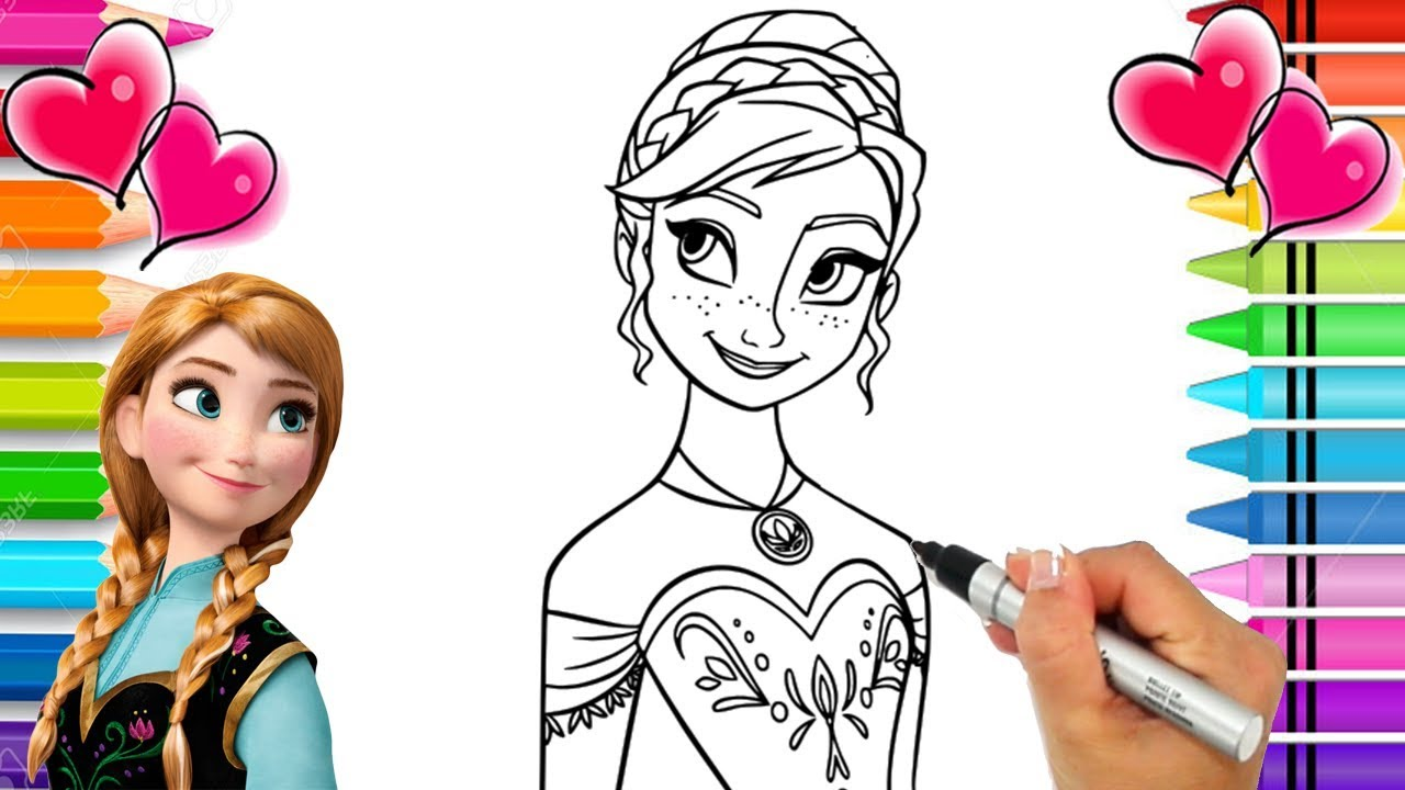 Disney Frozen 2 Anna Coloring Page Frozen Coloring Book Anna