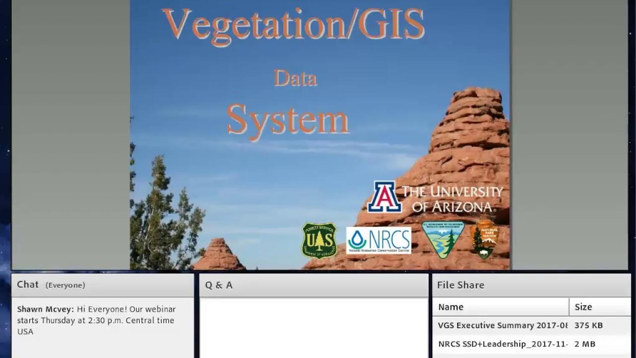 Webinar - Vegetation GIS Data System (11/2017)