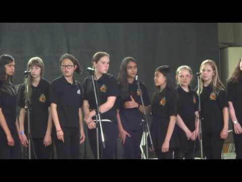 """John G Althouse MS Jazz Choir performs """"Skylark"""" @ Santa Lucia School"""