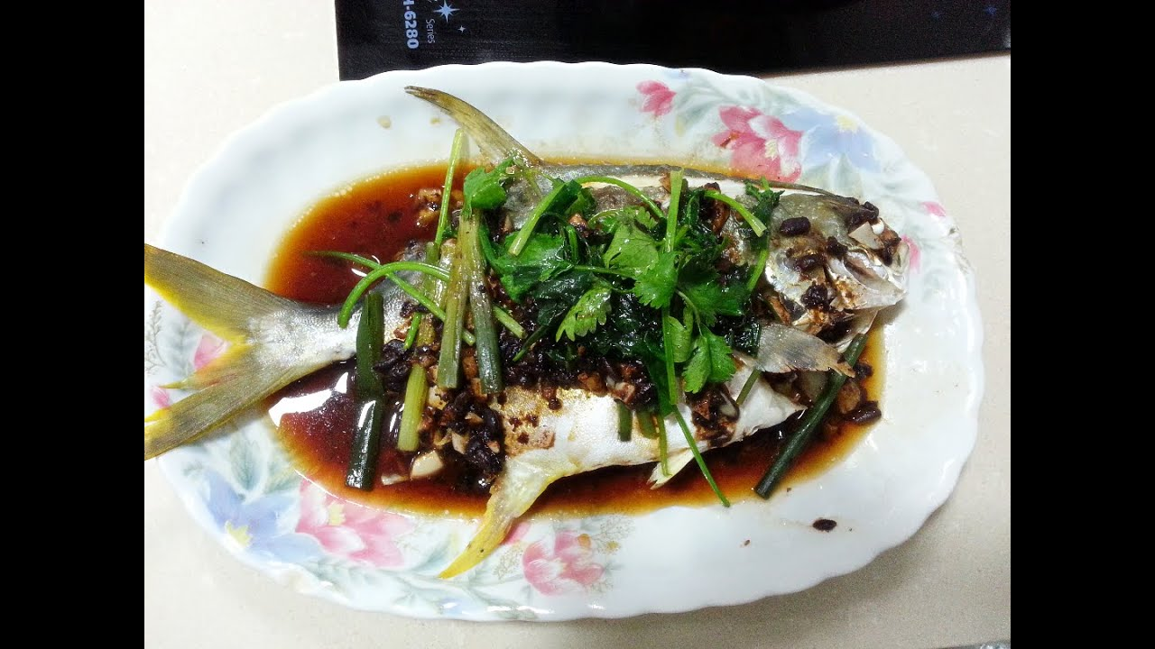 How to make steamed fish with black bean sauce youtube for How to steam fish