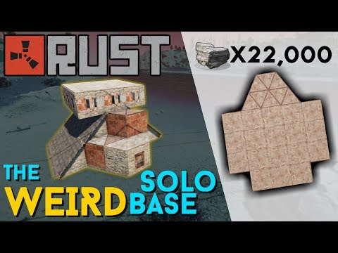RUST | The WEIRDEST Solo Build! | 38 LARGE BOXES