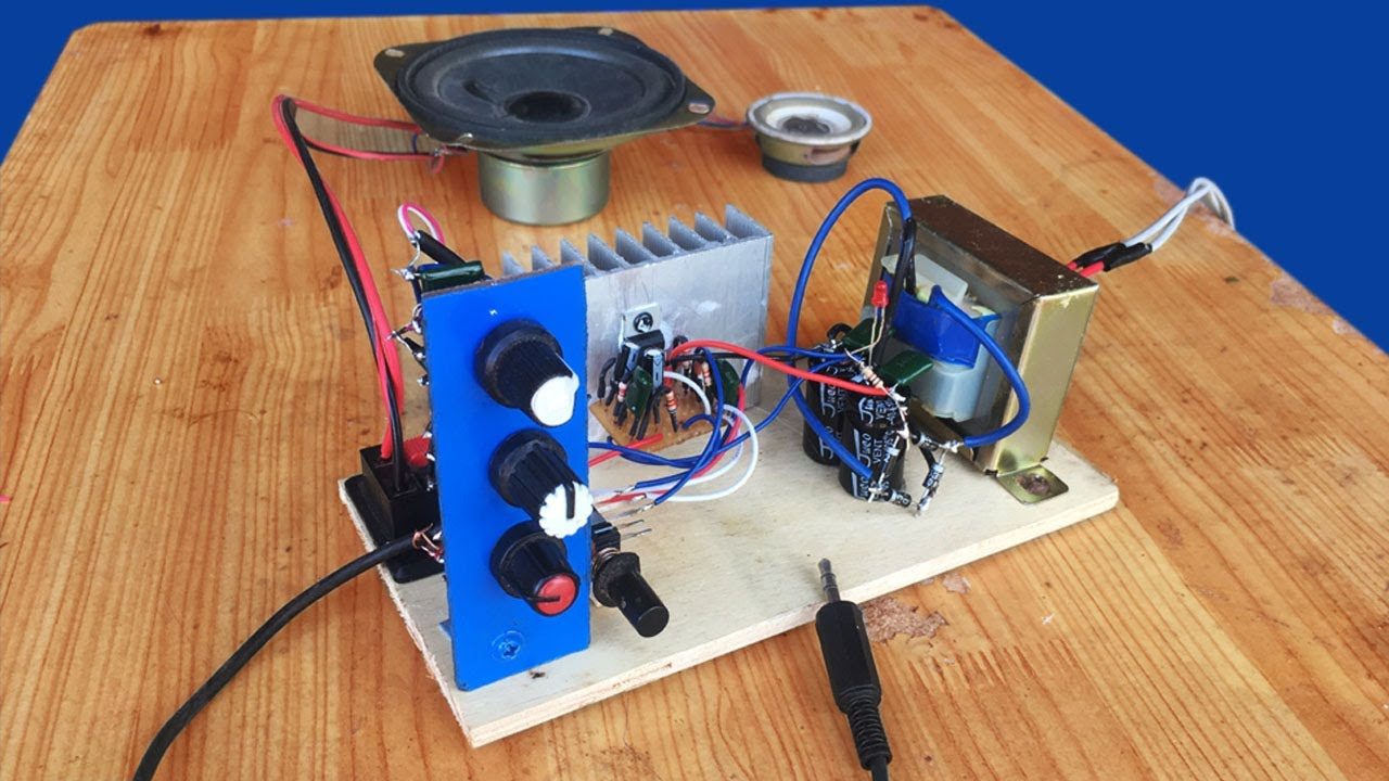 How To Make Simple 12w Amplifier Circuit Ic D2030a Audio 100wvariableresistorsimulator Amplifiercircuit