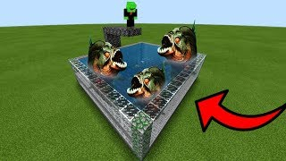 How To Make a PIRANHA Pool in Minecraft PE
