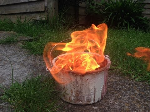 How to burn out a old metal paint kettle